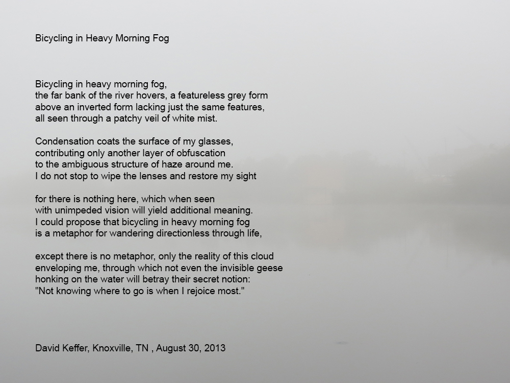 Poison Pie Publishing House: Bicycling in Heavy Morning Fog